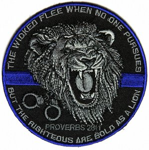 Top-Qualität Der Gerechte Bold As A Lion Patch für Law Enforcement Real Man Chest Jacke Eisen auf Flecken-freies Verschiffen Y5hu #