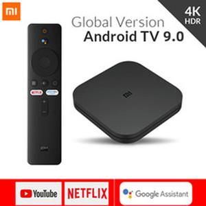 Global Version Xiaomi Mi TV Box S Android 9.0 4K HDR 2G 8G WiFi Google Cast Netflix Media Player Smart control