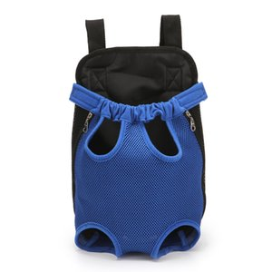 Luxury Pet Prodcuts Portable Outdoor Cat Dog Pet Double Shoulder Breathable Mesh Bag Backpack Puppy Travel Carrier for Small Dog