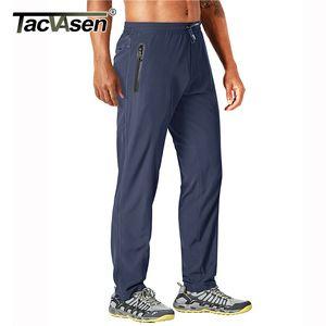 TACVASEN Открытый штаны Мужчины Quick Dry Straight Бег Туризм Брюки Упругие Легкий Йога Фитнес упражнения Sweatpants Joggers