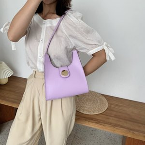 Wholesale Simple Baguette Portable New Armpit Fashion Shoulder Bag Womens 2020 Summer All-match Bag Womens Lujad Henef
