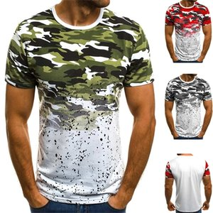 Men Camouflage Printed Male T Shirt Large size Bottoms Top Tee Male Streetwear Short Sleeve Fitness Big Tshirts High Quality 0921