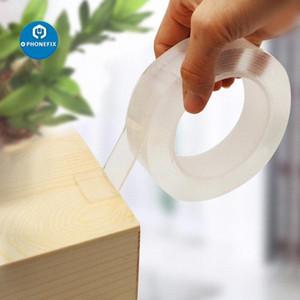 3M 더블 양면 매직 테이프 재사용 강한 접착제 이동식 스티커 방수 투명 테이프 청소할 홈 gekkotape RCj0 #