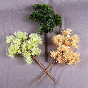 Çam Ağacı Dallar Yapay Plastik Cypress Noel Ev Dekorasyon Greenery Çiçek Düzenleme Yapraklar Çelenk Leaf Güz