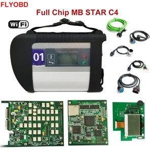 새로운 2020.06V ++ 품질 전체 칩 MB STAR C4 진단 도구 MB SD 연결 컴팩트 C4 진단 스캐너 12V / 24V를 진단 WIFI