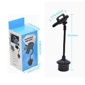 Universal Car Cup Mount Phone Holder For IPhone 11 Pro Max Samsung A71 Long Arm Clamp with Anti slip Phone Grip In Retail Package