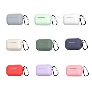 Für Airpods 3 Pro Silikon-Kasten-weiche ultra dünnen Schutz Airpod Abdeckung Kopfhörer Cases Anti-Drop Earpods Kleidung mit Haken Kleinpaket
