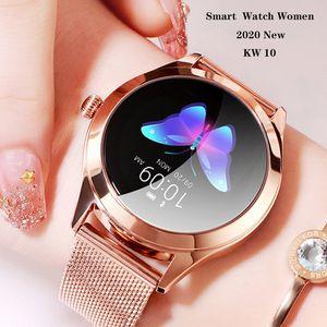 DZST Smart Watch Women 2020 Waterproof Luxury Metal Heart Rate Sleep Monitor Sport SmartWatch For Android IOS KW10 Smart Watch