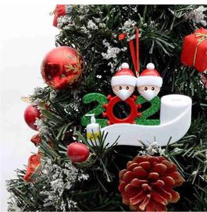 Рождество 2020 Новый Рождество кулон маска для лица снеговика Ношение маски семьи рождественские украшения Survivor подарков бесплатная доставка