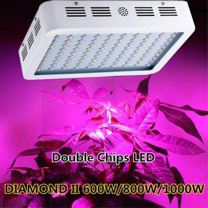 Full Spectrum 300W 600W 800W 1000W 1200W 1600W Doppel Chip LED wachsen helles Rot / Blau / Weiß / UV / IR Für Hydroponik und Zimmerpflanzen