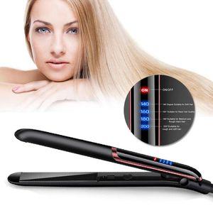 35W Professional Hair Straightener LED Display Ionic Flat Iron PTC Heating Hair Styling Straightener Curler