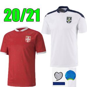 Таиланд 2020 2021 Сербия домой красный футбол Джерси 20 21 Srbija прочь Митрович Тадич КОЛАРЫ СЕРГЕЙ MATIC Kostic IVANOVIC Футбол Рубашка Uniform