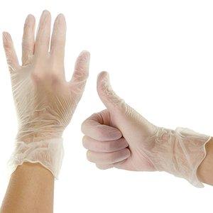Guantes desechables 100pcs de Examinación de Vinilo transparente en polvo libre sin guantes de látex para cocina que cocina Manipulación Limpieza Seguridad Alimentaria