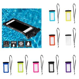 9 colori impermeabile del telefono mobile Floating Air Bag Casi Piscina Neck Strap universale Custodia subacquea Dry Bag
