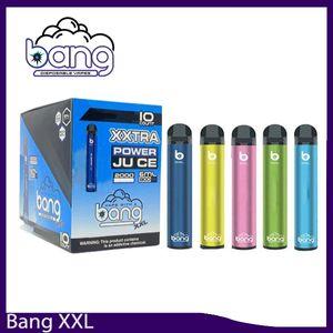 Bang XXL Tek Vapes Kalem Cihaz 800mAh Batterys 6ml Bakla Buharı 2000 poğaçalar Bang XXtra Kiti VS Puff XXL Bang XL 0268170 xtra boşaltın