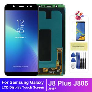 Para Samsung Galaxy J8 Plus J805 J805F LCD Display Display Digitador Digitador Montagem OLED
