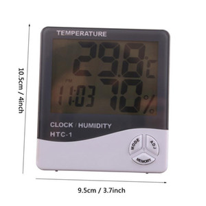 Digital LCD Temperature Hygrometer Household Precision Thermometer With Clock Humidity Meter Thermometer With Calendar Alarm