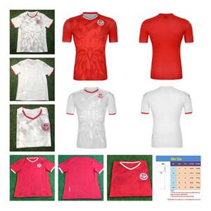 الجديدة 2020 تونس لكرة القدم الفانيلة 20 21 الصفحة الرئيسية أحمر # 7 MSAKNI # 10 KHAZRI كرة القدم قميص الزي خليفة SASSI معلول تونس لكرة القدم