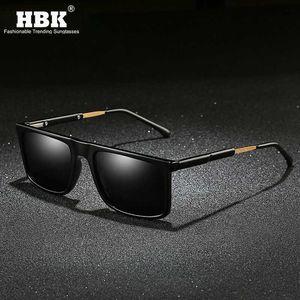 HBK de lujo para hombre del rectángulo gafas de sol polarizadas 2020 lente protectora del nuevo Tendencias Gafas de sol de calidad TAC UV antideslumbrante Sombras