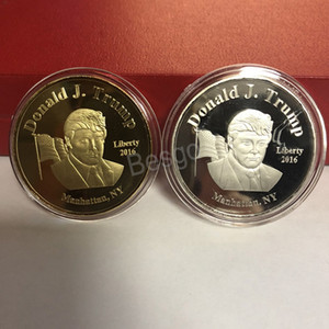 Newest 2020 Trump Coins Commemorative Coin American 45th President Trump Donald Craft Souvenir Coins Metal Badge Collection Coins BH2720 TQQ