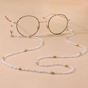 3mm Acrylic Beaded Chain Sunglasses Chains Necklace Reading Glasses Cord Holder Neck Strap Rope for Eyewear Face Mask