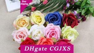 الحرير الزهور بالجملة روز رؤساء الزهور الاصطناعية 4 .3inch قطر وهمية الزهور رئيس عالية الجودة Wf001