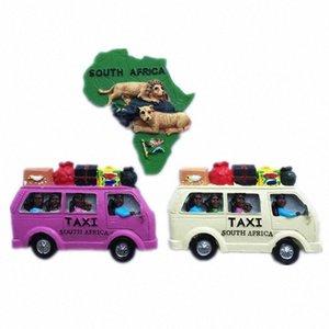 Творческое Южная Африка Такси Карта Lion Tourist Travel Сувенирная 3D Смола Декоративные Магнит на холодильник наклейка Christmas Craft ДАР URMM #