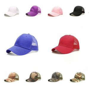 Baseball Hat camouflage Mesh Cap Party Supplies Unisex Visor Cap Snapback Caps Party Hats 30pcs T2C5264