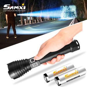 XHP90 LED puissante rechargeable ultra lumineux Lampes de poche 18650 Torche USB Batterie lanterne étanche pour le camping
