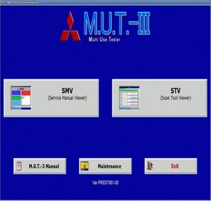 M.U.T. III PRE17091 Diagnostic Software 09,2017 Para Mitsubishi t9KI #