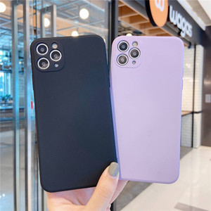 TPU suave del teléfono sensación de la piel casos de silicona con el interior de terciopelo para Huawei P40 Pro iPhone 11 MAX Pro XS XR SE 2