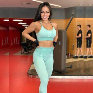 squalo sollevamento Hip Esercizio pantaloni fitness esercizio di yoga sport fitnessknitted pantaloni di yoga senza soluzione di continuità impostare reggiseno sportivo di idoneità per le donne bMD28 BMD-2