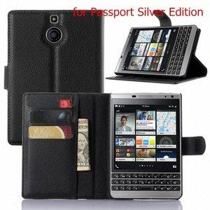BB Priv Luxury Business Flip Style Wallet cuir PU Couverture ForPassport Q30 cas de téléphone portable avec support carte stand 8Bop #