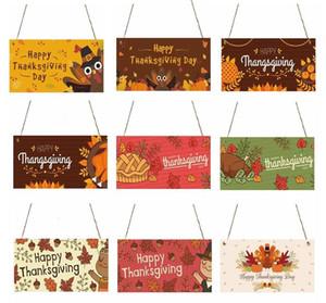Ringraziamento Casa di legno segno decorazione appesa regalo Happy Halloween in legno Banner Listing decorazione della parete della Casa in legno Bars Clubs Segni LSK928