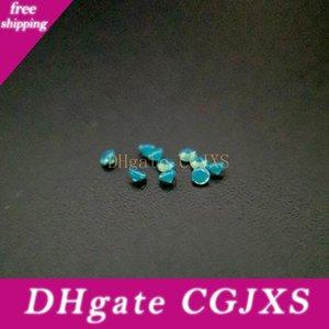 Resistenza Nano Gems Facet rotonde 0 .8 -2 .2mm molto scuro Opal verde acquamarina 2000pcs # 211 di buona qualità ad alta temperatura gemma sintetica