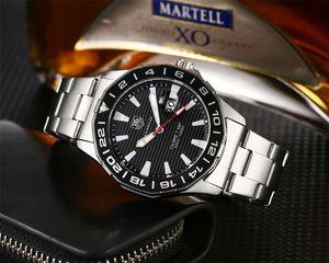Automatique Marque quartz calendrier Tag Montre en acier inoxydable Bracelet Mens Business Casual Calibre 36 Montres Mode Reloj Carrera Montres-bracelets