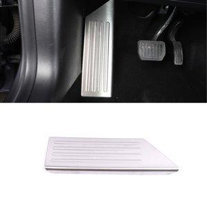 For Tesla Model 3 2017-2020 Car Accessories Driver Foot Rest Pedal Pad Cap Cover Sticker Frame Interior Molding Trim Decoration