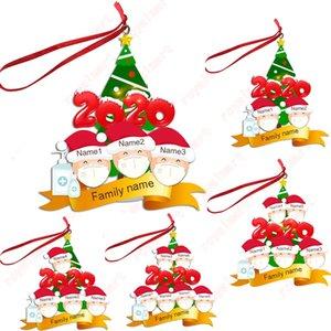 Ornament Grüße Quarantäne Weihnachtsgeburtstagsfeier Pandemic Social Distanzierung Weihnachtsmann Weihnachtsbaum Anhänger DHB1954