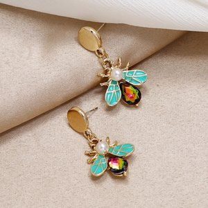 Non-Mainstream Design High-Grade Color Japanese and Korean Simple Temperament All-match Exquisite Insect Earrings