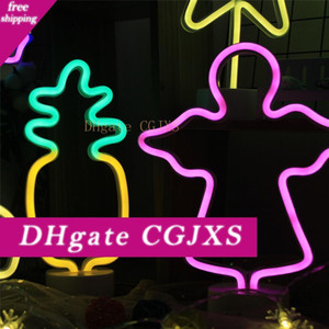 Fenglaiyi Unicorn / Dolphin / Dinosaur / Cat éclairage intérieur mur lampe LED Night Light Marquee Neon Light Battery Operated Pour la maison