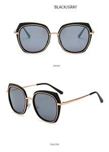 2020 Nouveau femmes de personnalité Lunettes de soleil ovale polarisants rose pourpre grand cadre Trendy Frame Eyewears métal hommes crapaud en forme de lunettes en alliage