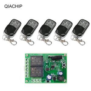 QIACHIP 433MHz 2CH RF-Relais-Empfänger-Modul DC 6V 12V 24V Universal Wireless Remote Control für Garagentüröffner Steuerung DIY