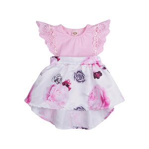 Toddler Girls Dresses Summer Lace Children's Clothes Baby Sleeveless Birthday Party Princess Print tutu Dress