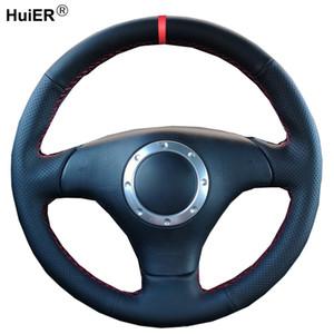 Dirección de coser a mano la rueda de coche cubierta para el Audi A3 2000 2001 2002 2003 2003 2004 2005 A4 RS 6 S4 2003 2004 2005 2006 TT 1999-2006