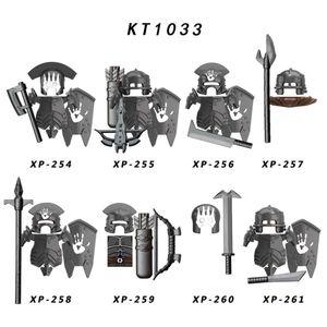Koruit KT1033 Señor de los Anillos Uruk-Hai Archer infantería pesada ballesta armas de asalto Commander figura de acción de juguete de los bloques huecos