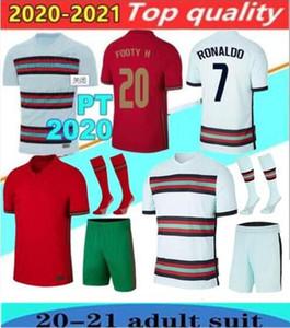 2020 RONALDO كرة القدم بالقميص JOAO FELIX NEVES BERNARDO CANCELO RUBEN NEVES 2021 قميص كرة القدم المنتخب الوطني بعيدا أبيض