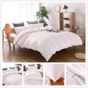 roupa de cama Plain colour 3pcs   2pcs Bedding set Cotton bed sheet +duvet cover + pillowcase dekbedovertre housse de couette