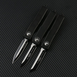 Microtech UTX85 Ultratech UTX85 UTX85 UTX70 UTX70 Bıçak D2 Blade T6 Alüminyum Saplı Açık Kamp Bıçaklar Açık EDC aracı