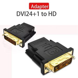 24K GOLD Consumer Electronics Tv Accessoires d'ordinateurs Dvi -D Homme (24 1 Pin) Pour Femme (19 -Pin) Hd Moniteur Adaptateur Hdtv affichage