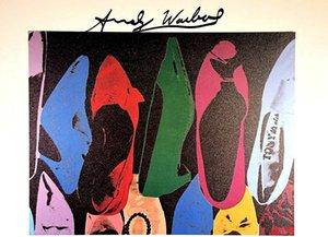 ANDY WARHOL Obras DIAMOND Dust Shoes Pintura Decoração Início óleo sobre tela Wall Art Canvas Pictures para sala de estar Wall Decor 200831